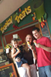Enjoying icecreams and snacks at the Tropical Treats Juice Bar