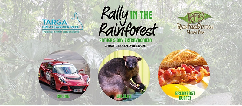 great barrier reef targa rally cairns rainforestation event 2nd september 2018 fathers day