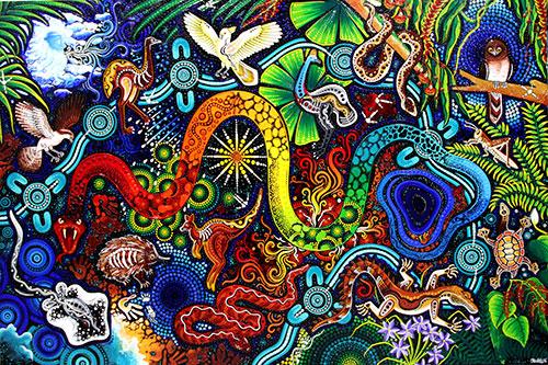 aboriginal cultural centre 3d painting pamagirri gallery