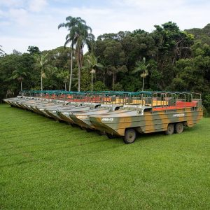 army DUKW rainforestation nature park kuranda
