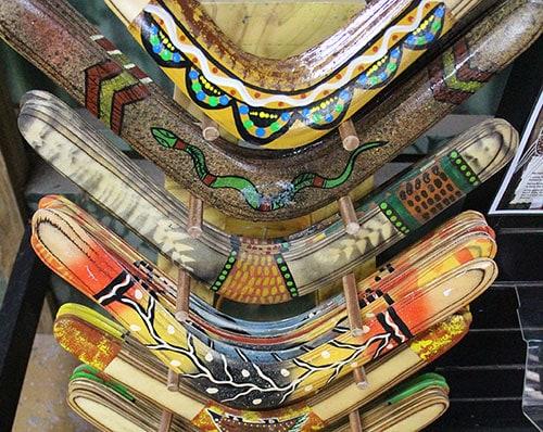 authentic aboriginal boomerangs rainforestation aboriginal cultural centre