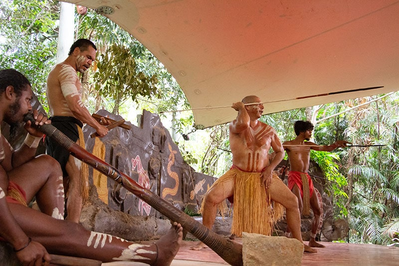Traditional Aboriginal Dance Rainforestation Nature Park Kuranda